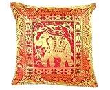 Ganesham artisanale–Ethnique Indien décoratifs en soie Couvre-lit Taie d'oreiller Housse de coussin en - Best Reviews Guide