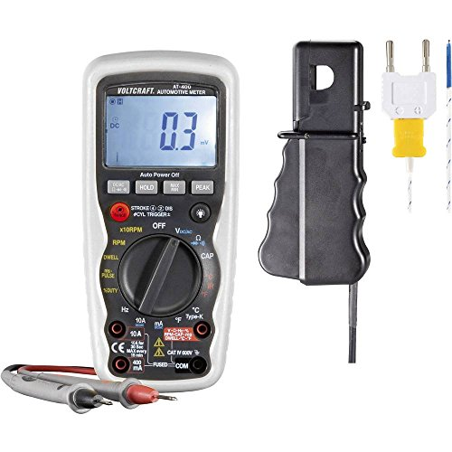 VOLTCRAFT AT-400 Hand-Multimeter digital KFZ-Messfunktion CAT IV 600 V Anzeige (Counts): 4000 Duty-cycle-multimeter