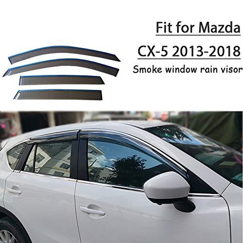 SLONGK Für Mazda cx-5 2013 2014 2015 2016 2017 2018, abs 4 stücke Auto Styling Rauch Fenster sonnenregen Visier abweiser Schutz zubehör