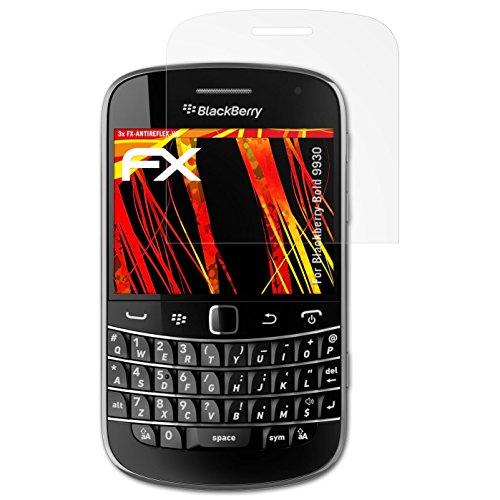 atFolix Schutzfolie kompatibel mit BlackBerry Bold 9930 Displayschutzfolie, HD-Entspiegelung FX Folie (3X) Blackberry Bold Screen Protector