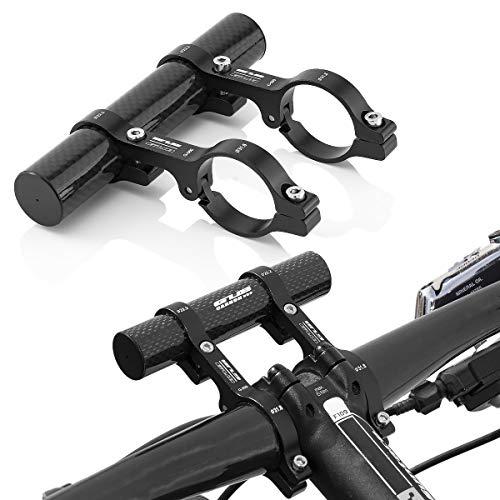 GUB Fahrrad Lenker Erweiterung Befestigungsadapter für Scheinweifer, Computer, Navi usw. Schwarz (Fahrrad-computer Mit Extender)
