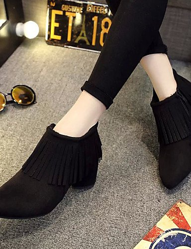 ShangYi Mode Frauen Schuhe WinterHeels / Plattform / Reitstiefel / Mode / Schuhe / Stiefel Stiefel Motorrad / Komfort / Springerstiefel / Spitz Grau