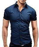 Merish Modell 77, Camicia Uomo, Blu Blau, Small