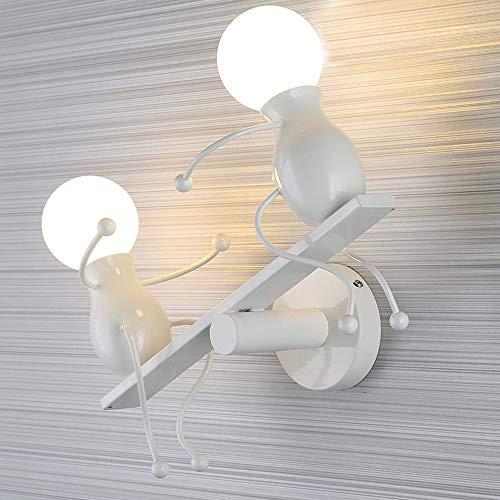 KOONTING® Apliques de Pared E27 Lámpara de Pared Lámpara Adecuado para Dormitorio, Sala, comedor, Habitación infantil, sala de estudio, baño, escaleras,pasillo, etc