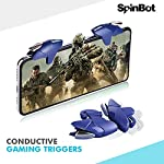 SpinBot BattleMods Conductive Mobile Gaming Triggers for PUBG - Supports for Mobile Phones and Tablets-1 Pair-