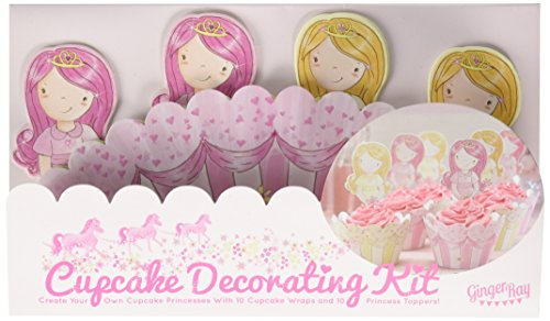 Ginger Ray Prinzessin Cupcake Wraps & Topper - ()