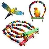 Biniwa Hängematte für Papageien/Nymphensittiche, bunt