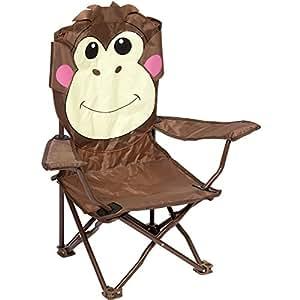 bocamp camping kinderstuhl faltbar affe metallgestell armlehnen rutschfest kinder stuhl. Black Bedroom Furniture Sets. Home Design Ideas
