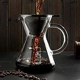 Ertex Caffettiera pour Over di Coffee feles. Caffettiera con Filtro Permanente, 500 ml