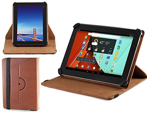 tablet huawei m2 Navitech cassa Marrone / copertura con 360 stand di rotazione & stilo per HUAWEI MediaPad M2 10.0 Tablet