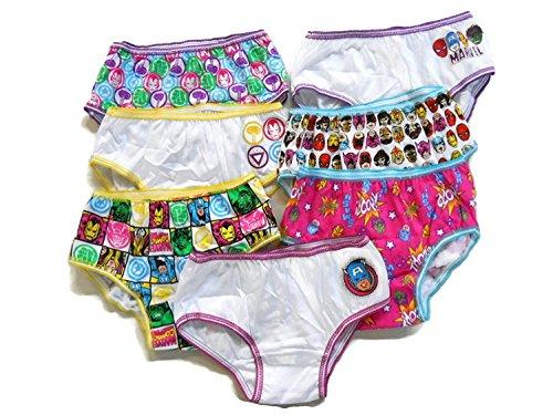 Marvel Kleid Comic (Marvel Comics Girls Hipster Panties 7 Pack Avengers Hulk Ironman Captain)