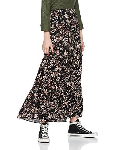 Find floral tiered maxi, jupe femme, noir...