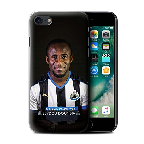 Offiziell Newcastle United FC Hülle / Case für Apple iPhone 7 / Pack 25pcs Muster / NUFC Fussballspieler 15/16 Kollektion Doumbia