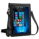 USA Gear 10 Zoll Tablet Schutzhülle zum Umhängen: Tasche mit Touch-Funktion, aus Neopren, für z.B. Samsung Galaxy Tab A und weitere Tablets, Schwarz