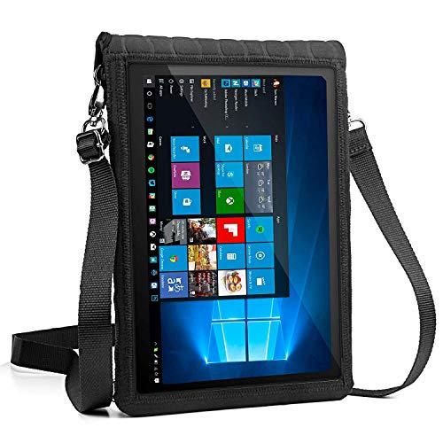 USA Gear 10 Zoll Tablet Schutzhülle zum Umhängen: Tasche mit Touch-Funktion, aus Neopren, für z.B. Samsung Galaxy Tab A & weitere Tablets, Schwarz (Gear Tablet-schutzhülle Usa)