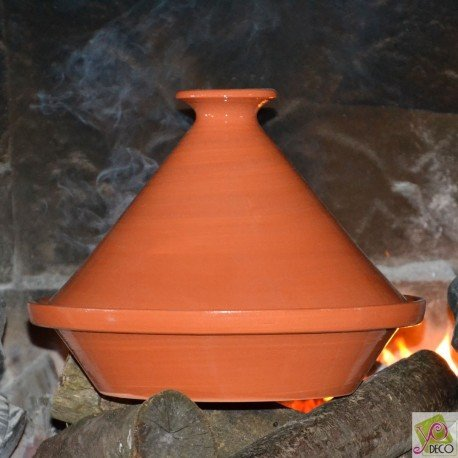 Tajine en terre cuite traditionnel - D 25 cm
