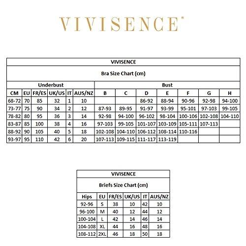 Vivisence 1027 Slip Femminile Liscio A Vita Regolare Con Pizzo In Fiorellini - Fabbricato In UE Nero