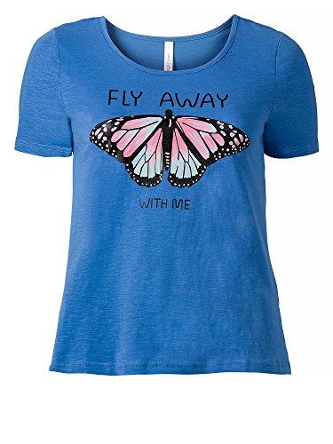 sheego Casual Damen T-Shirt große Größen Blau