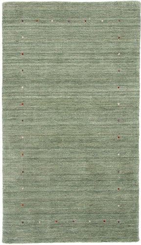 Carpetfine: Alfombra Gabbeh Loom - 89x158 cm - Verde - Handloom - India - Rectangular