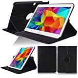 Case pour Samsung GALAXY Tab 4 10.1 Inch SM-T530 T531 T533 T535 Smart Cover Slim Sacoche Stand Flip Screen Protector (Noir) NEUF