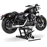 Cric moto ConStands Mid-Lift L noir pour Harley Davidson Cross Bones (FLSTSB), CVO Electra Glide Ultra Classic (FLHTCUSE)