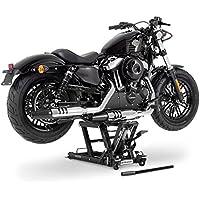 Ponte Sollevatore moto ConStands Mid-Lift L nero per Harley Davidson Fat Boy/ Special (FLSTFB)/ (FLSTF), Heritage Softail Classic/ Special (FLSTC)/(FLSTN), Heritage Springer (FLSTS)