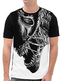 VOID Jäger Grafik T-Shirt Herren All-over Druck alien xenomorph