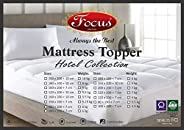 Mattress Topper - Thickness 7 cm - 100% Cotton, Overfilled Thick Pillow Soft Fluffy and Warm Hotel Quality