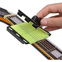 Techrace Guitarra Cuidado Limpiador Cuerda Limpiador Traste Diapasón Diapasón Eliminación de Suciedad Almohadilla de Limpieza Fácil Cuerda Limpieza para Guitarra/bajo/mandolina/Ukelele