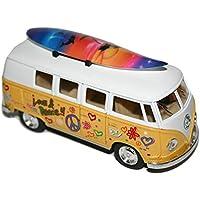 Volkswagen Classic Bus 1962 diseño de flores con diseño de furgoneta para tabla de surf de