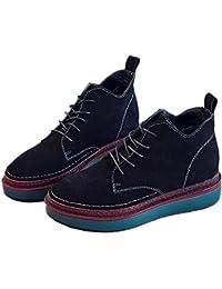 Martin botas nuevas botas de cuero grueso dentro de las botas altas , black , 7.5