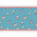 """'I Love de pared adhesivo B de 10071Cocina cenefa """"Cupcakes y cenefa Cocina Pared Decoración magdalenas Tarta Hielo Donuts, Höhe: 30 cm; Breite: 5 m"""