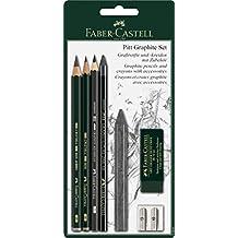 Faber-Castell 112997 - Set lápices grafito, accesorios