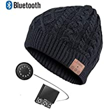 LETAMG Bluetooth Cappello Cuffie Auricolari Bluetooth Senza Fili Cuffie  Auricolari Cuffie Intelligenti Cappello Caldo Invernale con b3c77f2573ca