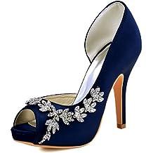 size 40 e18b0 1f4aa Scarpe Donna Blu Raso Eleganti - 4 stelle e più - Amazon.it