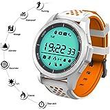 Reloj Deporte Inteligente QIMAOO F3 Smart Watch Bluetooth 4.0 Fitness Tracker Sincronización con Smartphone Llamada SMS Recordatorio Podómetro, Escalada, Correr, Senderismo Deportes Relojes para IOS o Android