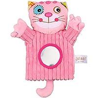 Docooler Animals Hand Puppet Soft Portable Felpa Sonajeros Bell Magic Mirror Finger Toys para educación temprana Palm Civet para bebés, niños