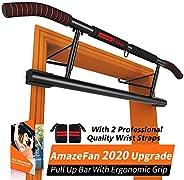 AmazeFan Ergonomische handgreep Optrekstangen Fitness kinframe voor thuisgymnastiek 2 vervangbare accessoires - 2 polsbandje