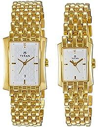 Titan Bandhan Analog White Dial Couple's Watch -NK19272927YM01