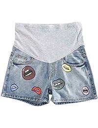 Hztyyier Pantaloncini maternit/à Donna Estate Gravidanza Pantaloncini Pantalone Mamma Short Pannello Completo Supporto Pantalone Elastico Fascia Vita