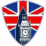 PHC 8x 7,5cm Auto decorativo para gran bretaña Union Jack con Big Ben de Londres adhesivos para Auto Moto Teléfono Móvil