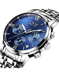 Relojes Hombre Moda Deportivos Impermeable Acero Inoxidable Reloj Lige La Marca Clásico Hombre Cuarzo De Analógico