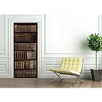 Ambiance-Live - Adhesivo de Puerta, 204x83cm, diseño de Biblioteca de Antiguos Libros