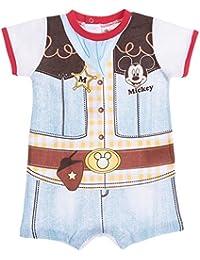 Barboteuse bébé garçon Mickey Trompe-oeil Cow-boy de 3 à 18mois