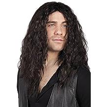 Rocker de la peluca con barba Disfraz de caballero de cuarzo de los hombres