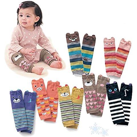 Bebé oso para rodilleras Calcetines calentador de pierna Unisex pantalla pads-random color, 0–5años