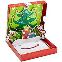 Amazon.de Geschenkkarte in Geschenkbox (Geschenke mit Weihnachtsbaum) - mit kostenloser Lieferung per Post