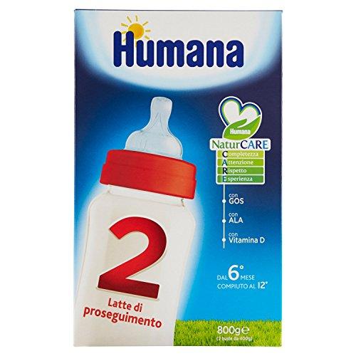 Humana 2 latte di proseguimento indicato dai 6 mesi, con prebiotici, gos, in polvere - 800 gr