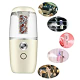 Mini Portable Diffusor Luftbefeuchter für Baby, Auto, Reise, KOBWA Ultraschall Aroma ätherisches Öl Diffusor Luftbefeuchtungsgeräte mit Negative Ionenpartikel