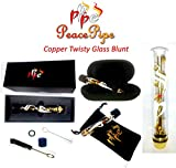 Glass Blunt (Glass Pipe) 2.5 Gram Herb Vaporizer/Pipe 2x Quartz Blunts, 4x Rubber Caps, 1x Cleaning Brush and Case